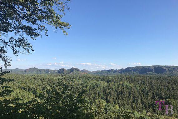 Affensteine Sächsische Schweiz Felsentor Kuhstall Ausblick