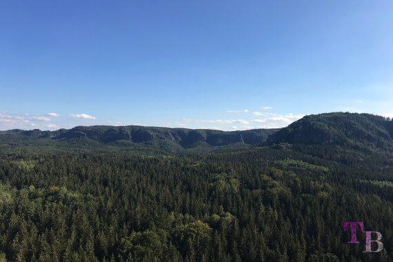 Affensteine Sächsische Schweiz Himmelsleiter Ausblick