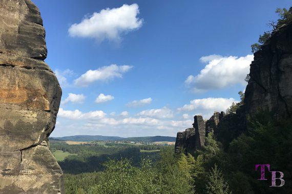 Affensteine Sächsische Schweiz Zwillingsstiege Ausblick