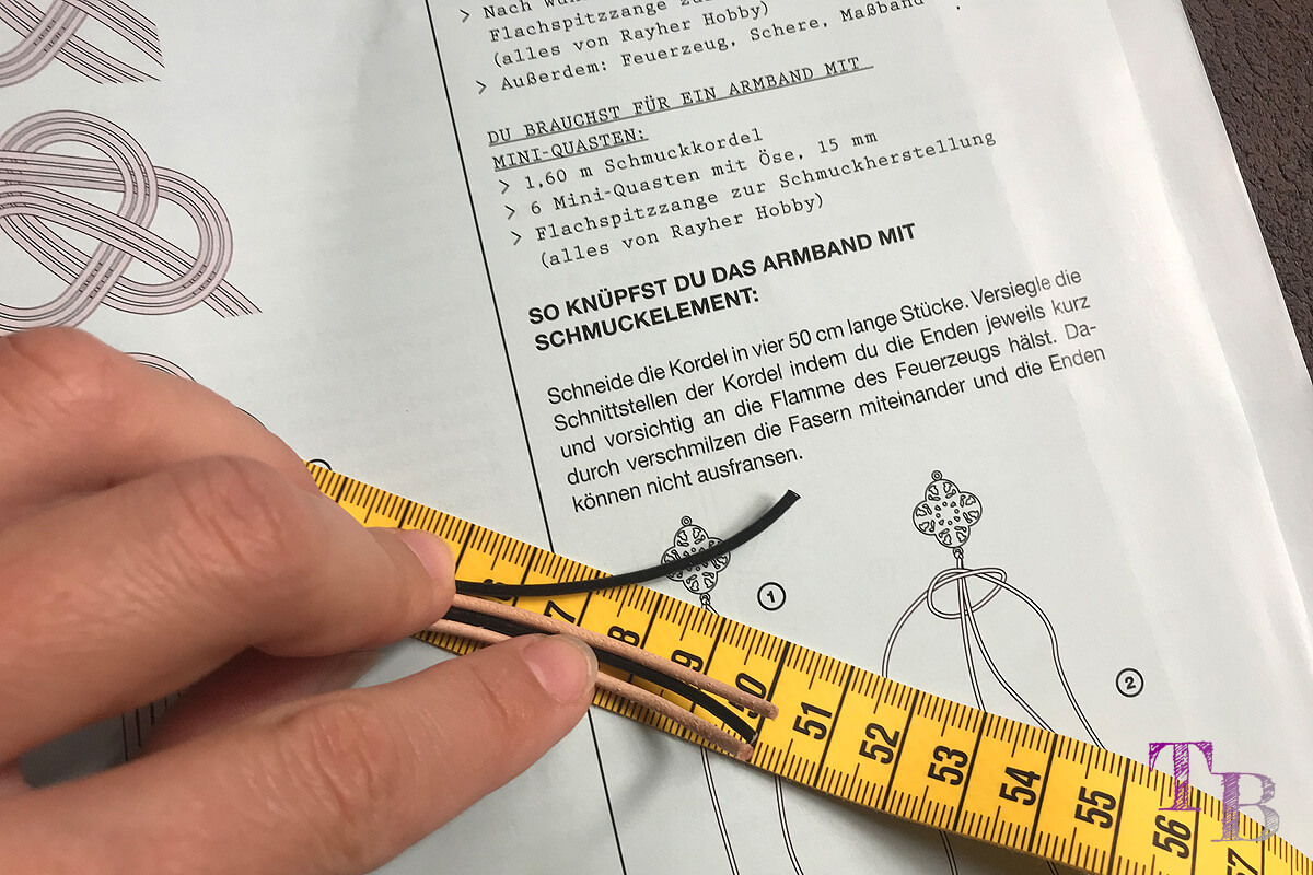 burda accessoires Magazin Armband Länge messen