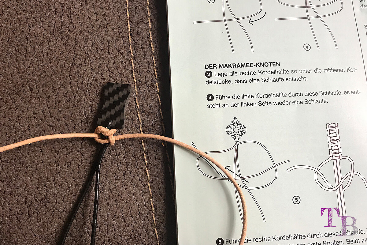 burda accessoires Magazin Armband Anfang knoten