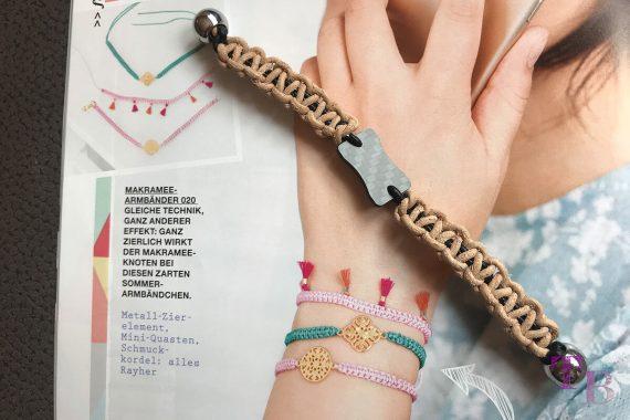 burda accessoires Magazin Armband fertig