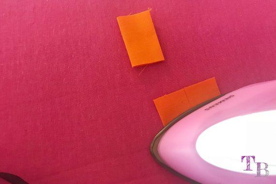 burda accessoires Magazin Clutch Halteschlaufe orange bügeln