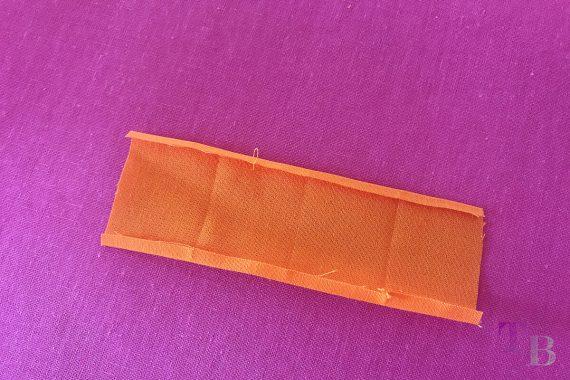 burda accessoires Magazin Clutch Halteschlaufe orange