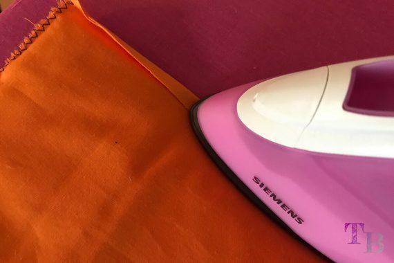 burda accessoires Magazin Clutch Naht Reißverschluss bügeln