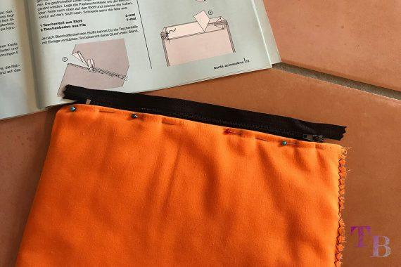 burda accessoires Magazin Clutch Reißverschluss stecken