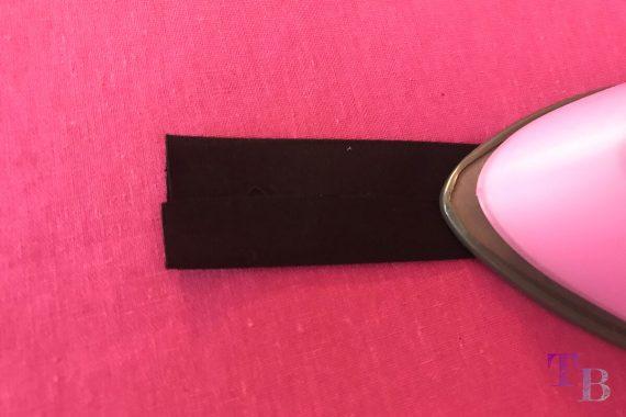burda accessoires Magazin Clutch Schlaufen bügeln schwarz