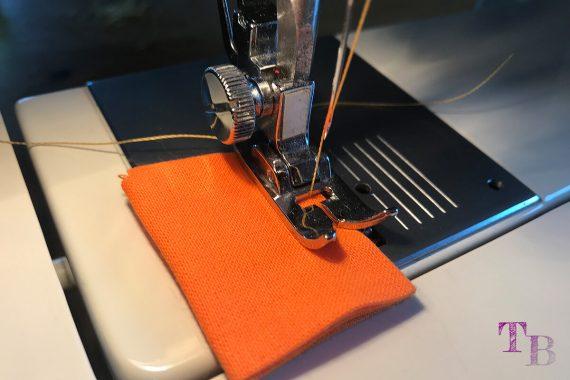 burda accessoires Magazin Clutch Schlaufen nähen orange