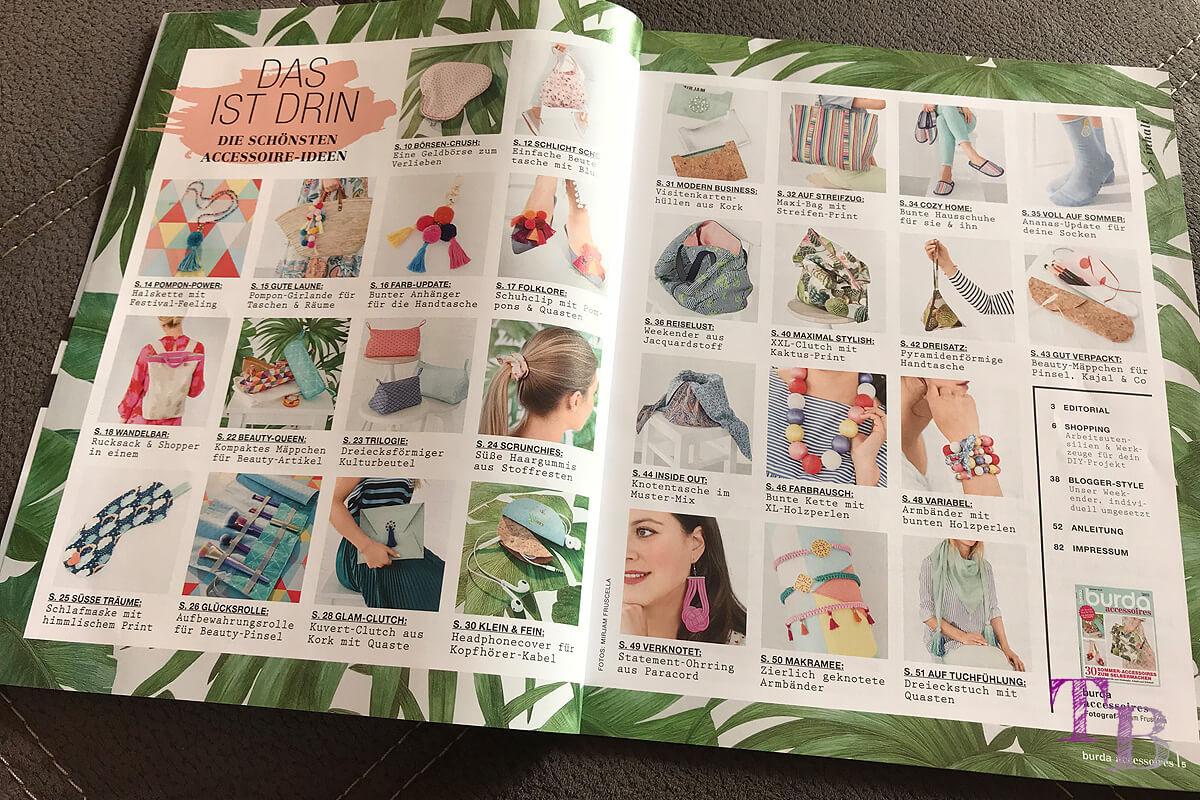 burda accessoire-Magazin Inhalt Projekte Ideen