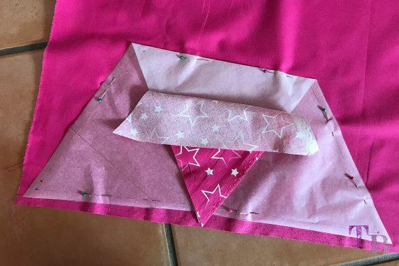 burda accessoires Magazin Pyramidentasche pink Unterteil stecken