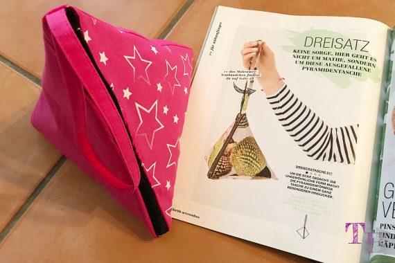 burda accessoires Magazin Pyramidentasche fertig