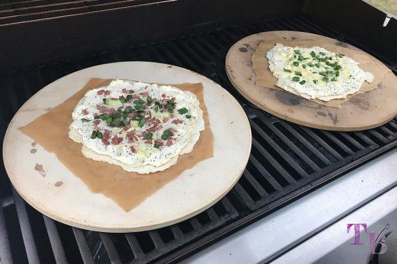 Flammkuchen DIY Grill Pizzastein