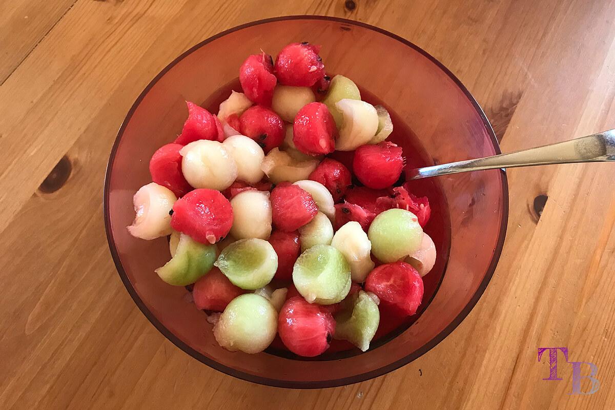 Melonen Frucht Salat fertig lecker
