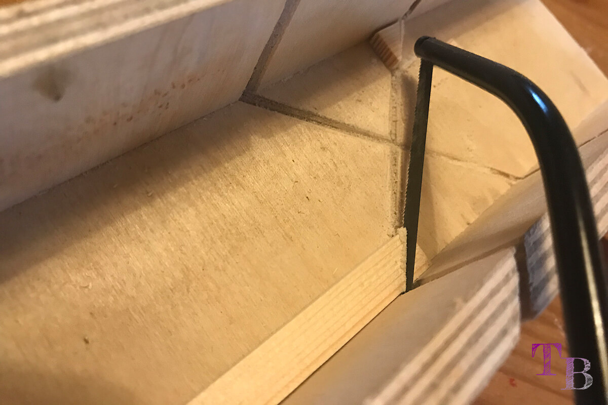 Puzzle Brett DIY Ecke absägen