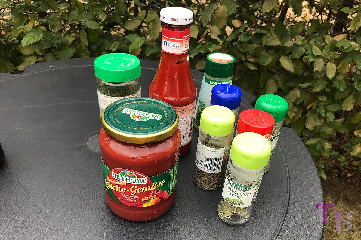Soljanka Zutaten Letscho Ketchup Gewürze