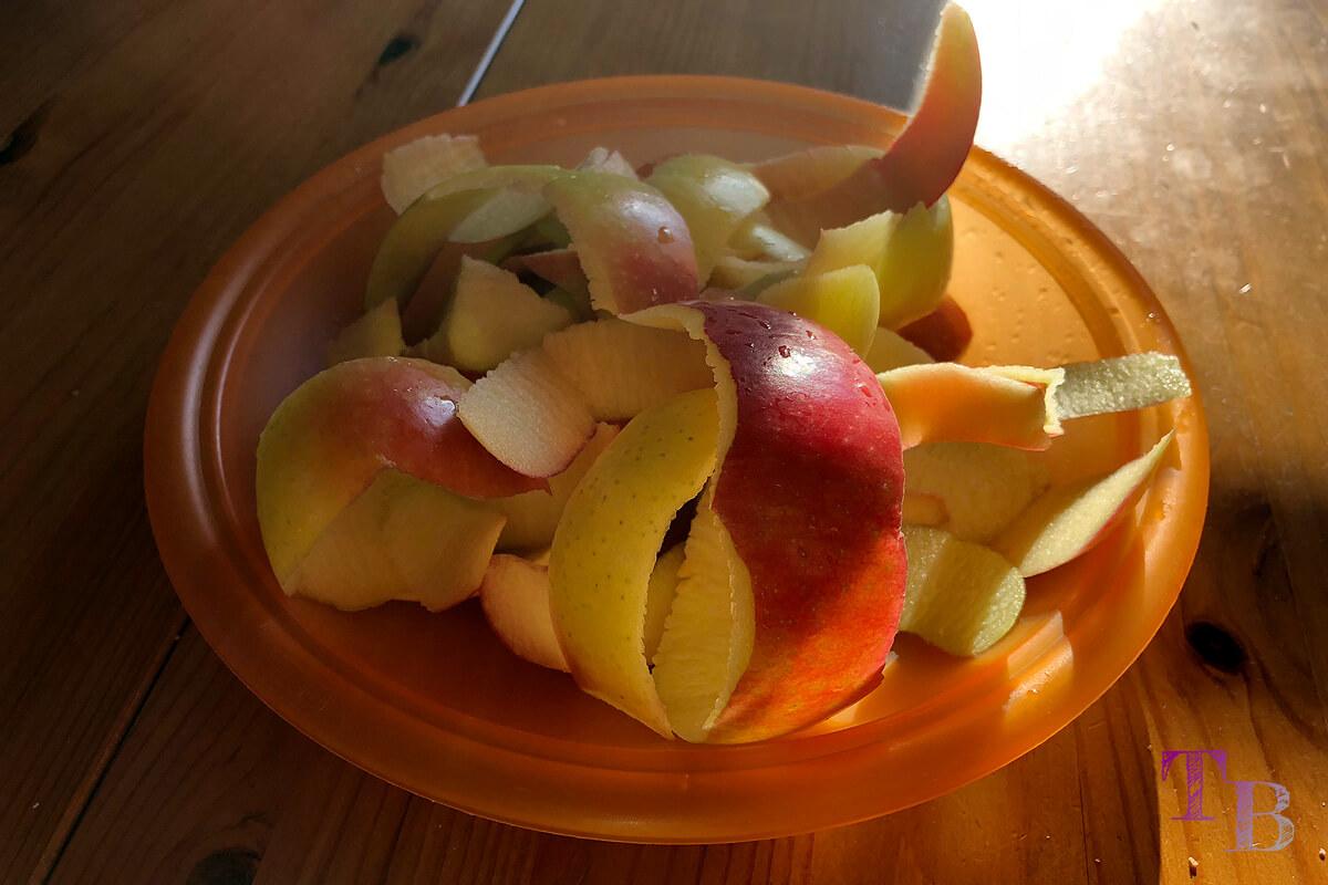 Apfeltaschen Apfel Schale gesund