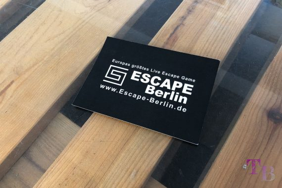Escape Berlin Live Game Theater Flyer
