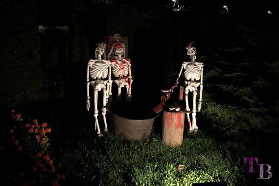 Irrgarten Kleinwelka Geisternacht 2018 Deko Skelette