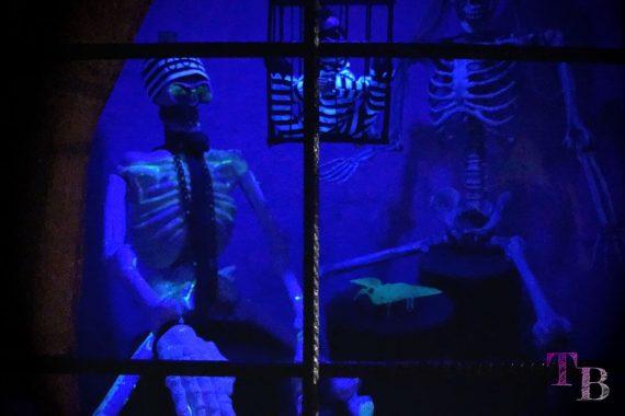 Irrgarten Kleinwelka Geisternacht 2018 Deko Skelette Knast