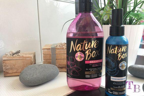 Nature Box Kokosöl Mandelöl kaltgepresst Feuchtigkeitsspray Shampoo