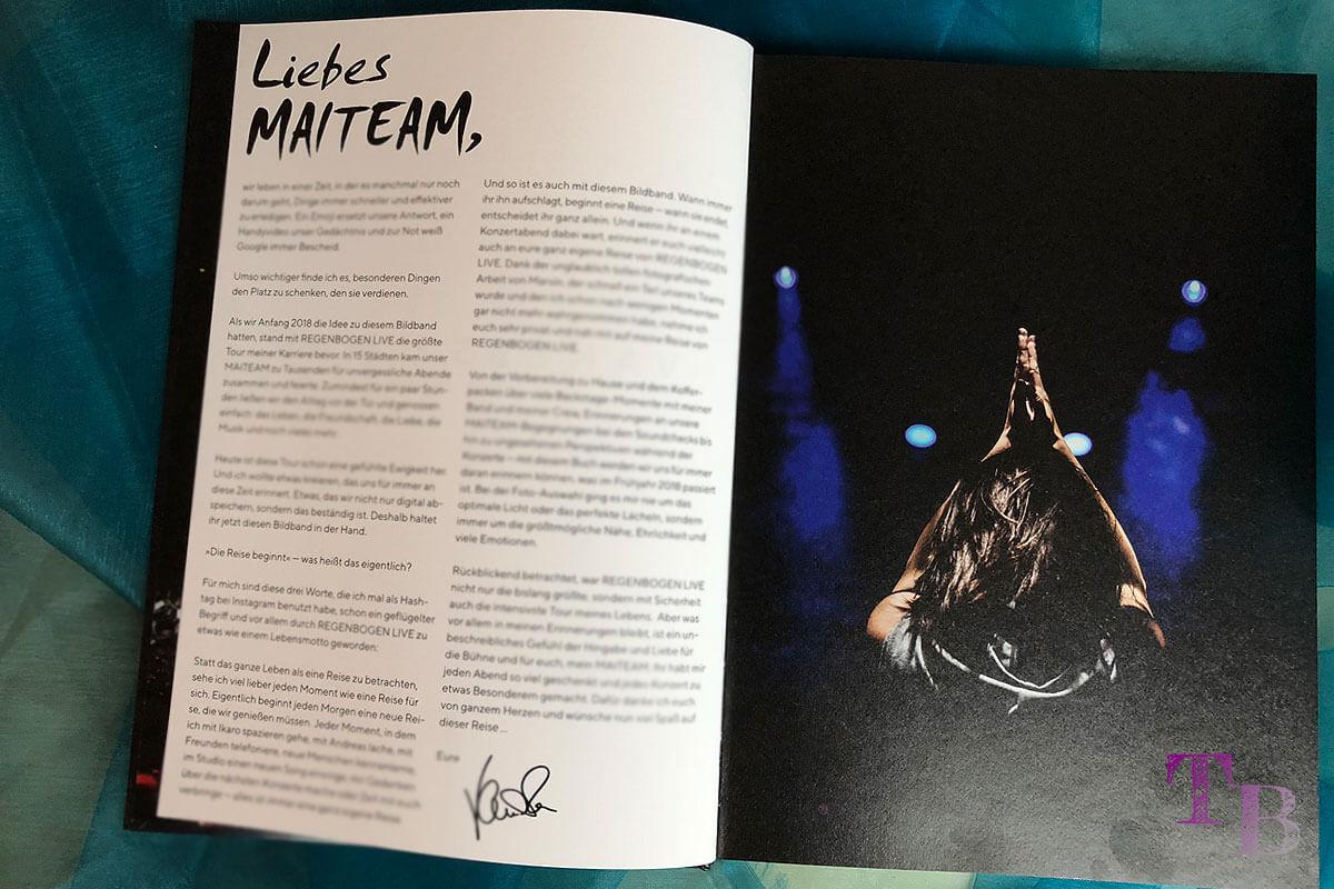 Vanessa Mai Buch Die Reise beginnt Einblicke Widmung MAITEAM Fans