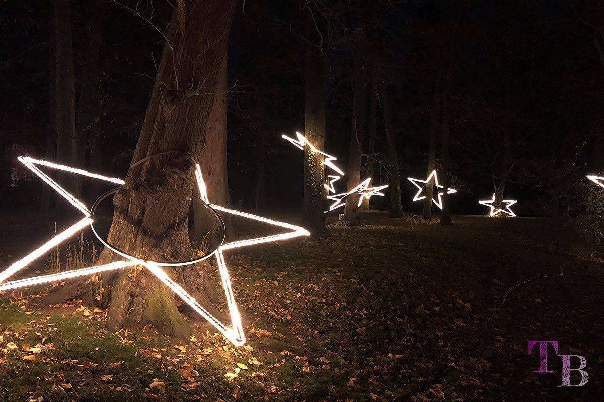 Christmas Garden Dresden schwebende Sterne
