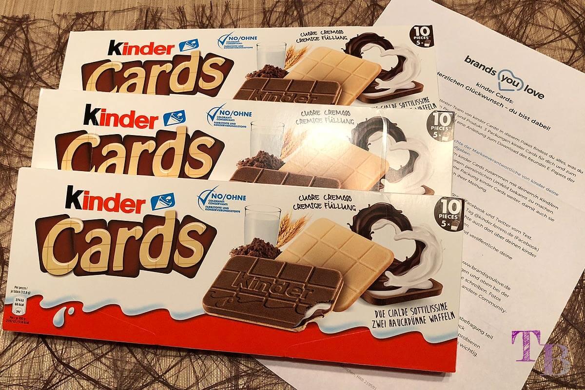 kinder Cards Inhalt Testpaket brandsyoulove