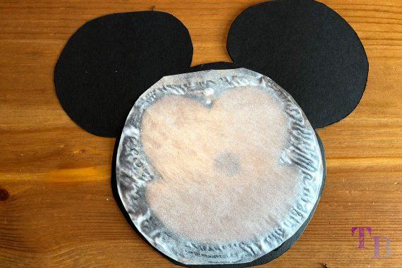 Micky Maus Lampion DIY transparent kleben
