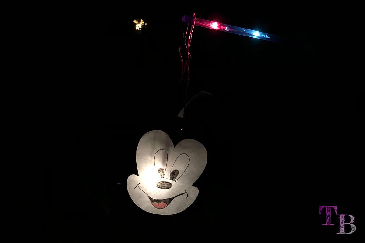 Micky Maus Lampion DIY fertig leuchten dunkel