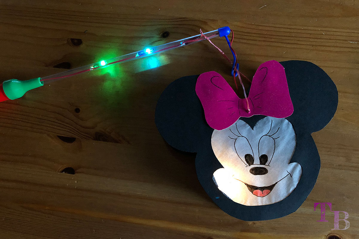 Micky Maus Lampion DIY fertig