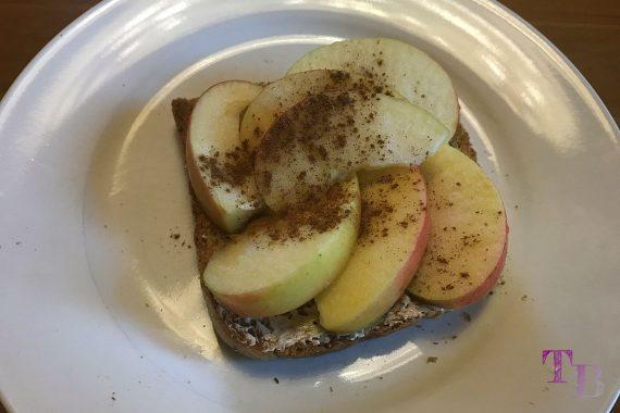 Toast überbacken Apfel Zimt