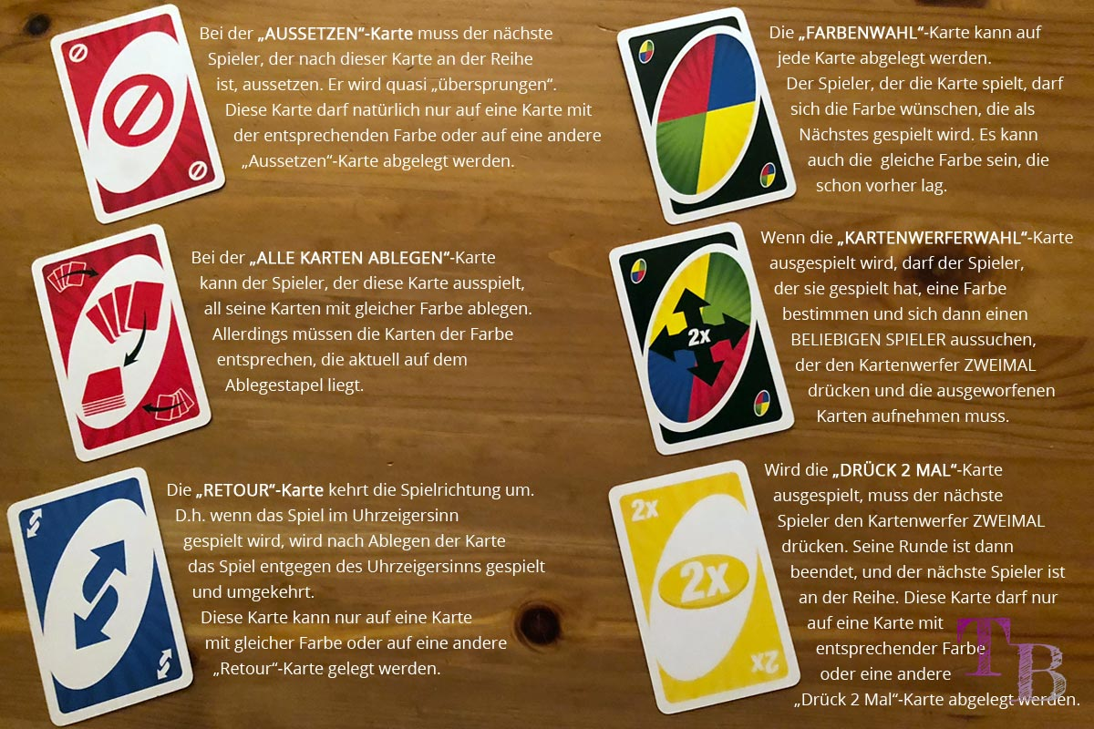 UNO Extreme Aktionskarten Definition