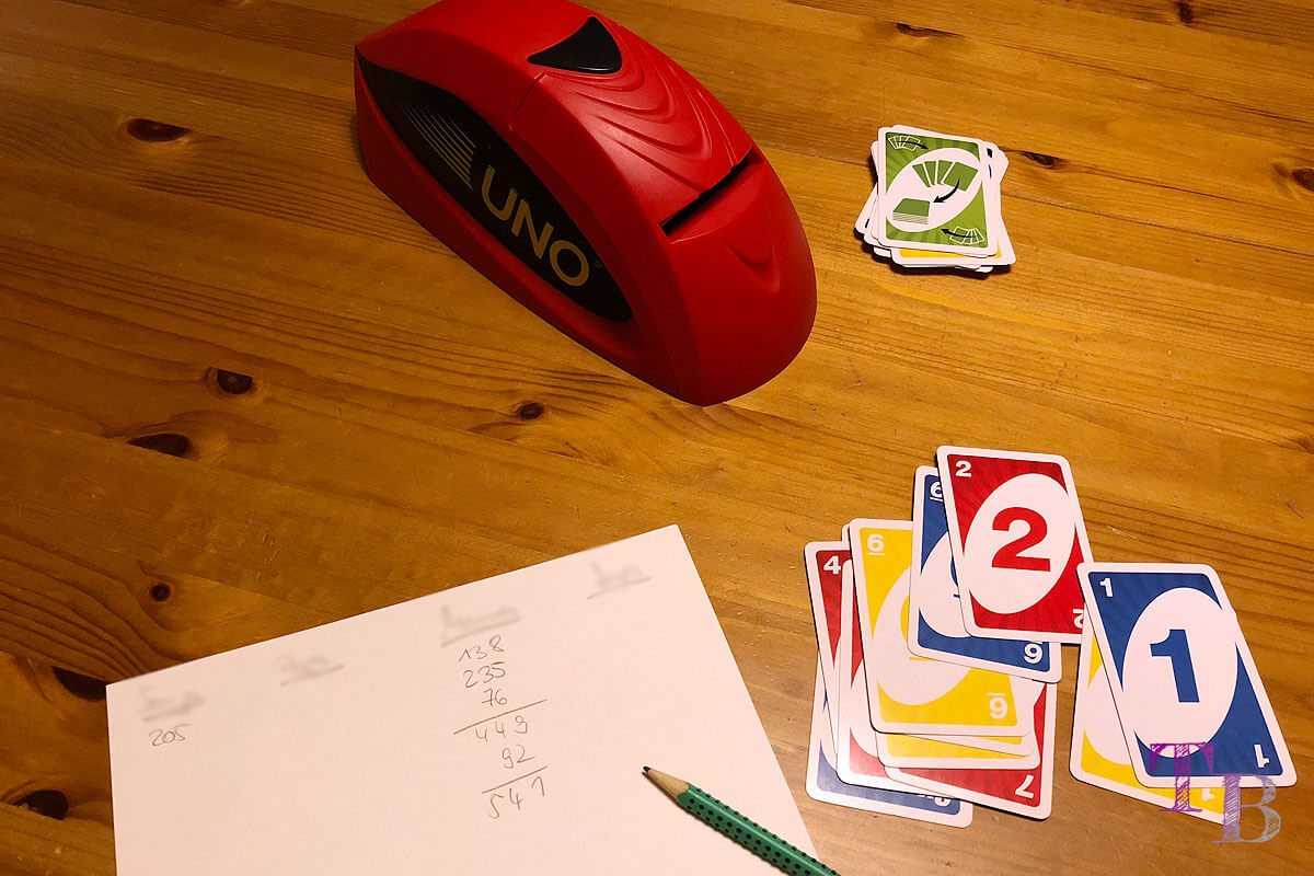 UNO Extreme Karten Spiel Punkte berechnen Sieger Gewinner