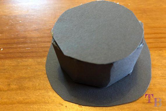 DIY Schneemann Hut fertig