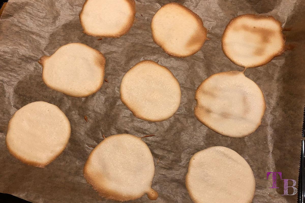 Glückskekse DIY Teigkreise fertig gebacken