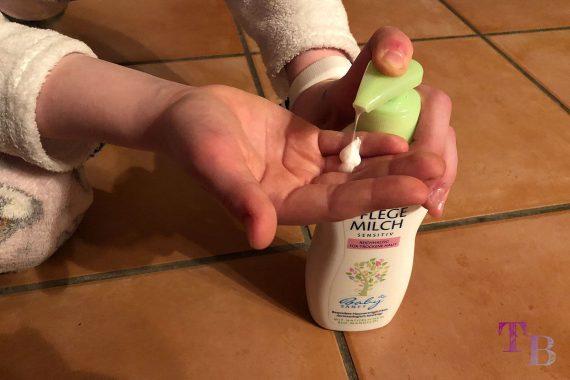 HiPP Babysanft Pflegemilch trockene Haut Dosierung