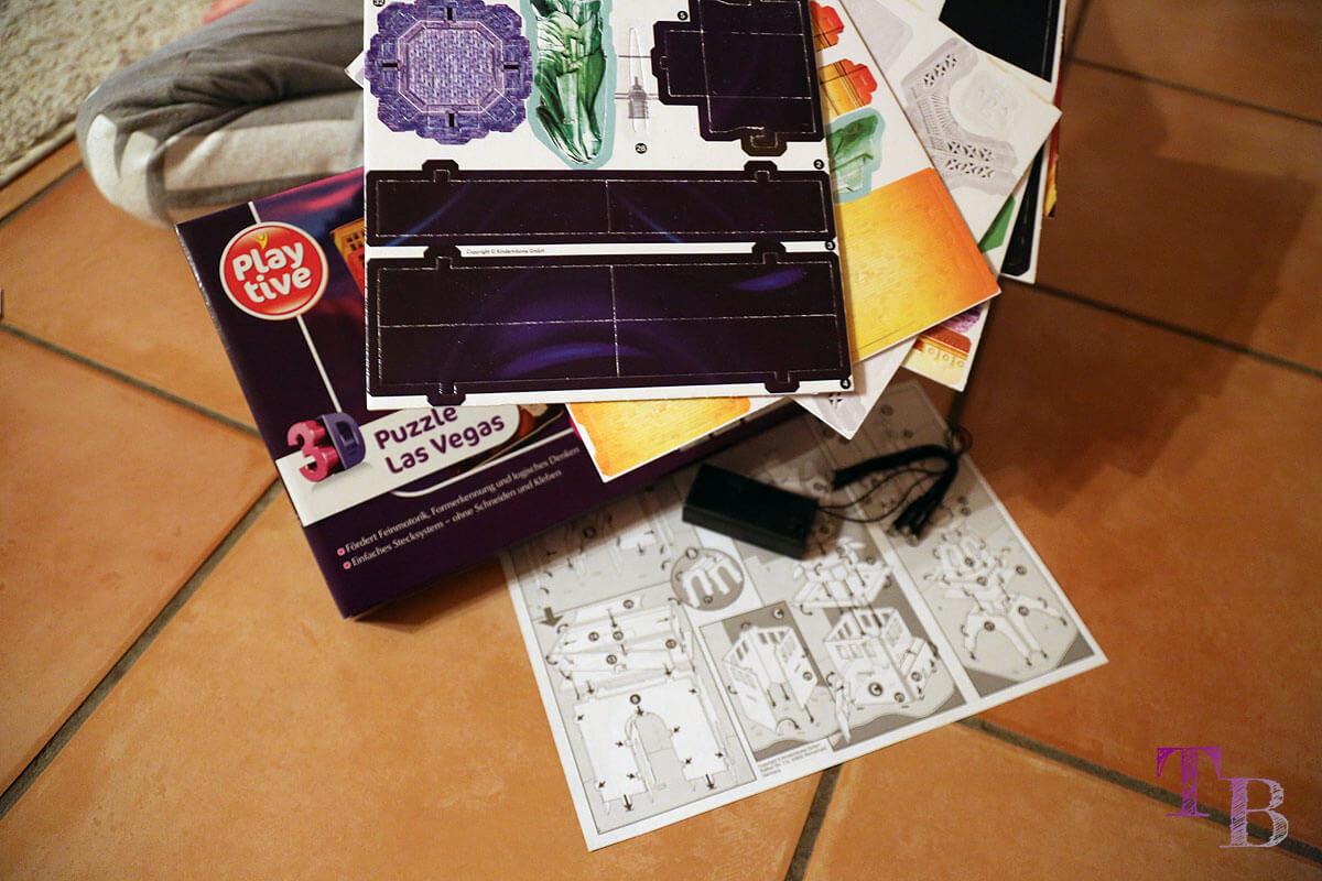 3D Puzzle Las Vegas Lidl Zubehör Inhalt
