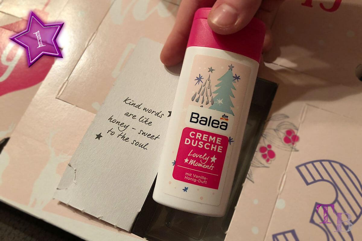 Balea Adventskalender Creme Dusche Vanille