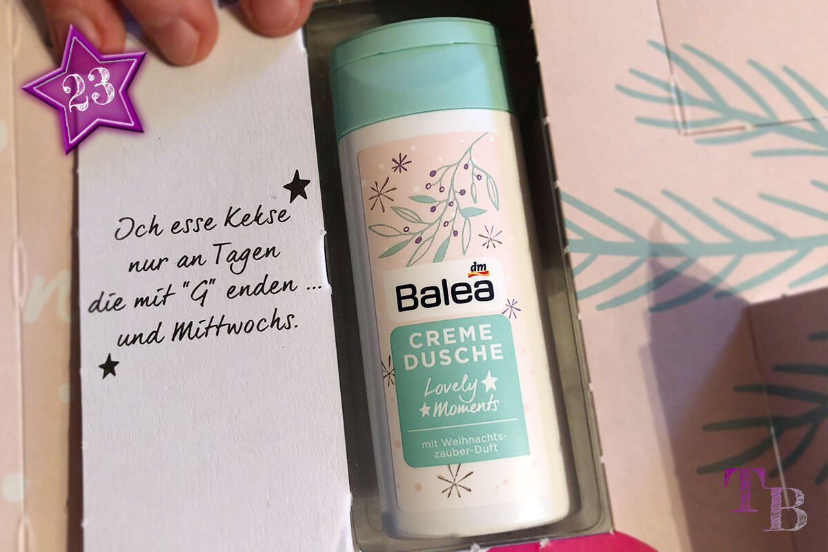 Balea Adventskalender Creme Dusche Weihnachtszauber
