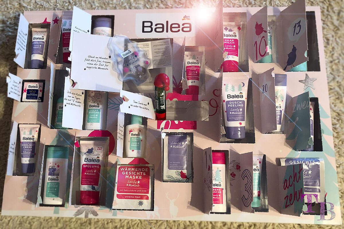 Balea Adventskalender Inhalt komplett