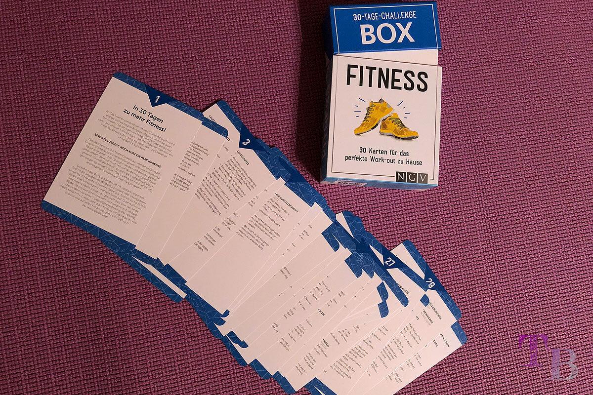 Fitness Challenge Box Karten Lidl