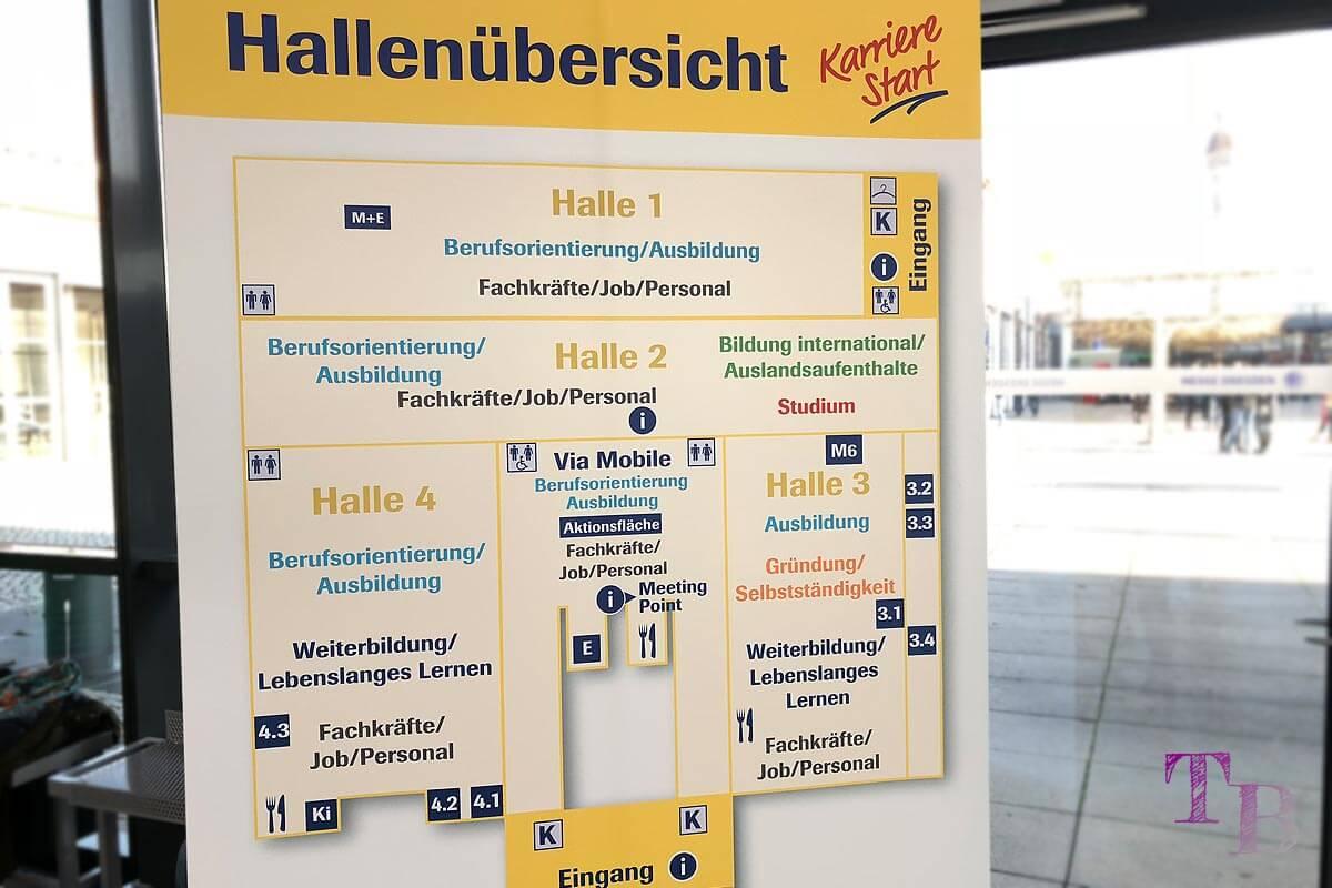 KarriereStart Messe Dresden Hallenplan