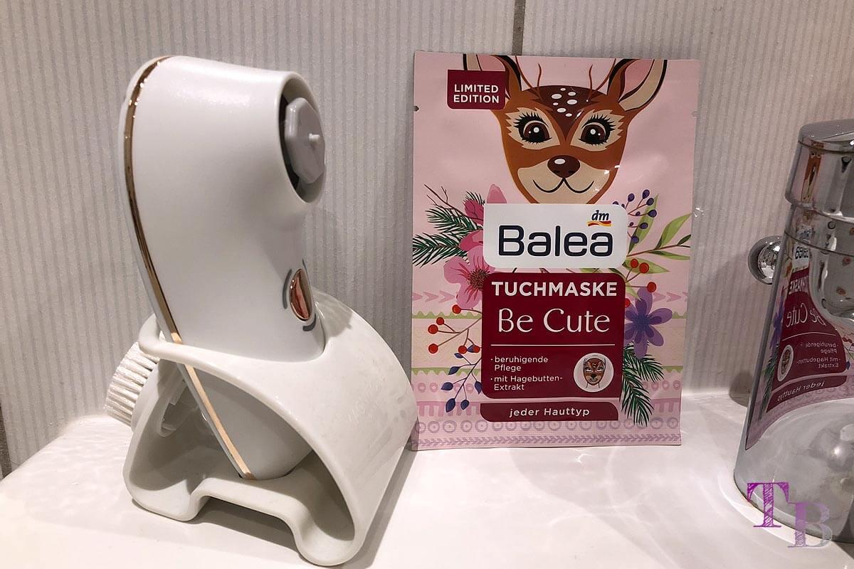 Tuchmaske Reh Balea BareFaced 2 Gesichtsreinigungsbürste