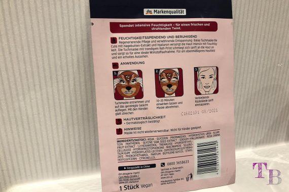 Tuchmaske Reh Balea limited Edition Anwendung vegan