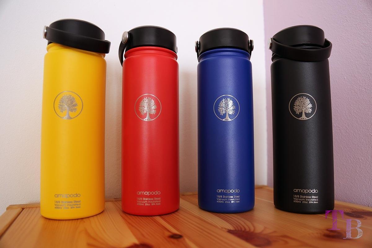 amapodo Teeflasche Sportflasche Outdoor Farben