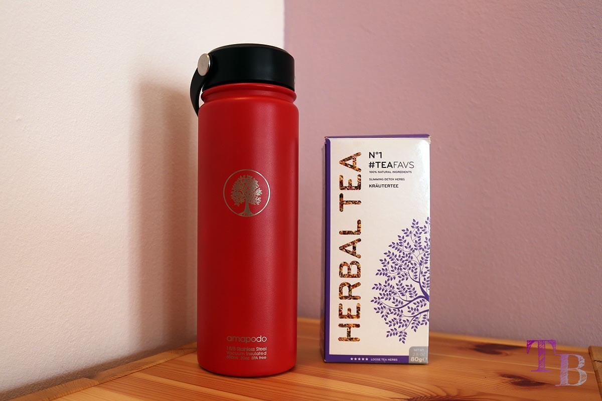 amapodo Teeflasche Sportflasche Outdoor Teafavs Tee