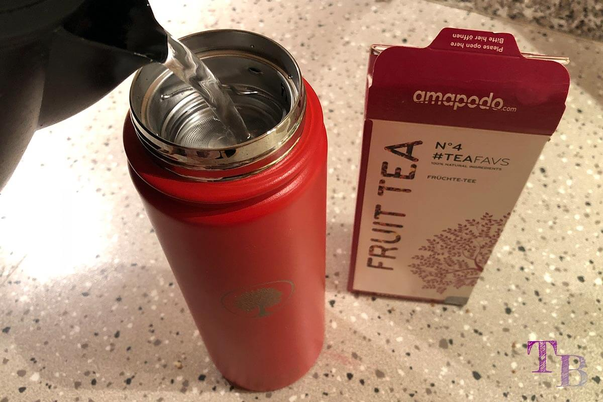 amapodo Teeflasche Sportflasche Outdoor Wasser aufgießen