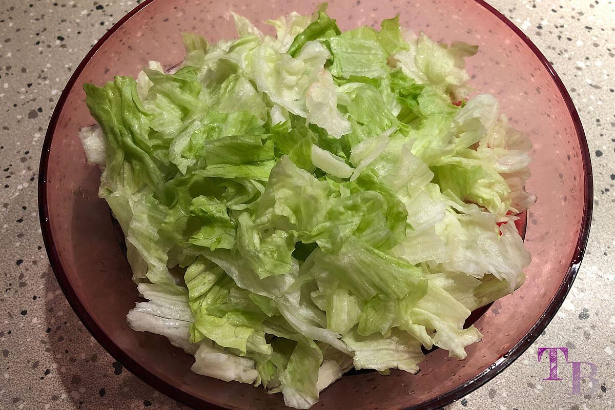 China Nudeln Eisbergsalat Salat
