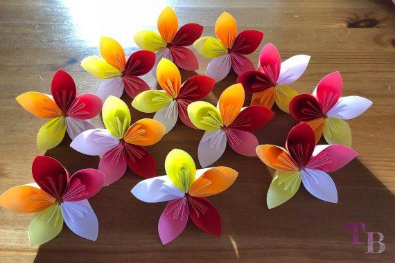 Blüten Papier Kusudama DIY Blumen