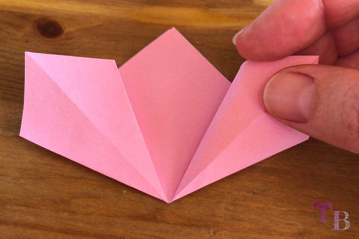Blüten Papier Kusudama DIY Raute falten